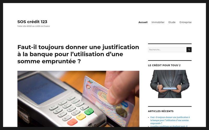SOS crédit 123 - Votre site dédié au crédit en France